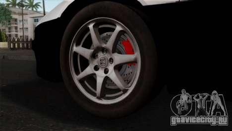 Honda NSX Police Car для GTA San Andreas вид сзади слева