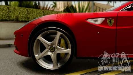NFS Rivals Ferrari FF для GTA San Andreas вид сзади