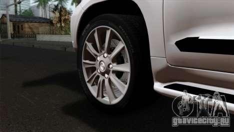 Lexus LX570 2011 для GTA San Andreas вид сзади слева