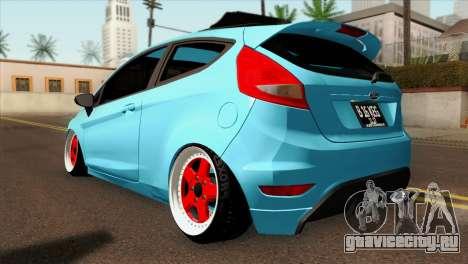 Ford Fiesta 2009 Minty Fresh для GTA San Andreas вид слева