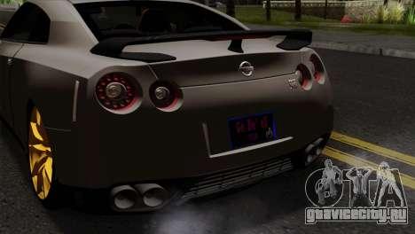 Nissan GT-R R35 2012 для GTA San Andreas вид сзади