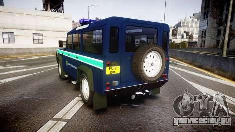 Land Rover Defender Policia GNR [ELS] для GTA 4 вид сзади слева