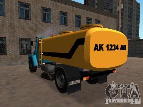 ГАЗ 53 Поливальная для GTA San Andreas вид сзади слева