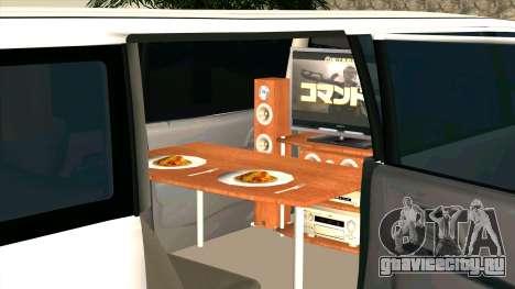 Mitsubishi EK Wagon Limo для GTA San Andreas вид изнутри