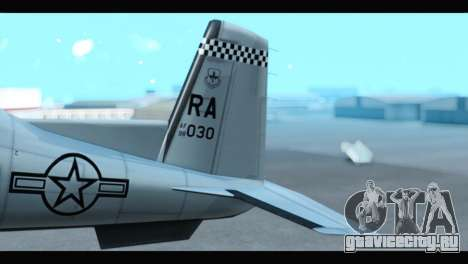 Beechcraft T-6 Texan II US Air Force 3 для GTA San Andreas вид сзади слева