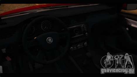 Skoda Octavia для GTA San Andreas вид справа