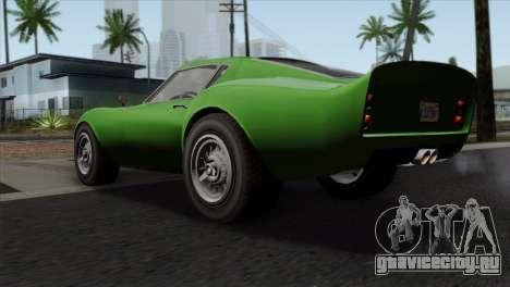 GTA 5 Grotti Stinger GT v2 SA Mobile для GTA San Andreas вид слева