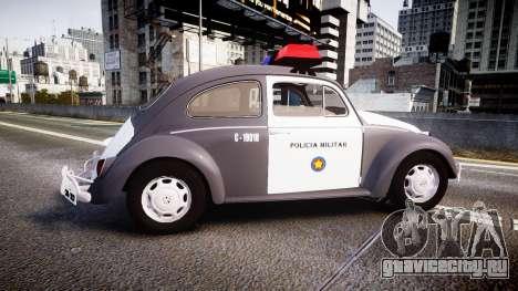 Volkswagen Fusca 1980 Military Police Sao Paulo для GTA 4 вид слева
