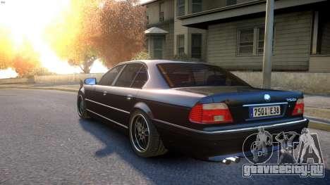 BMW 750i e38 1994 Final для GTA 4 вид сзади слева