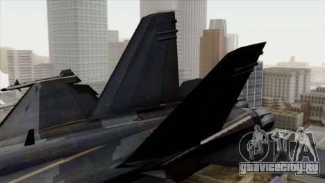 FA-18 HARV для GTA San Andreas вид сзади слева