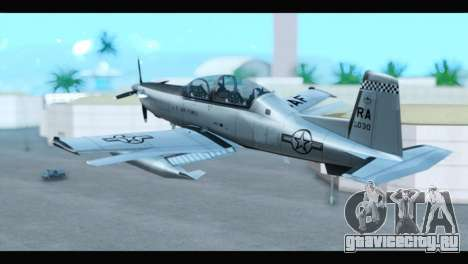 Beechcraft T-6 Texan II US Air Force 3 для GTA San Andreas вид слева