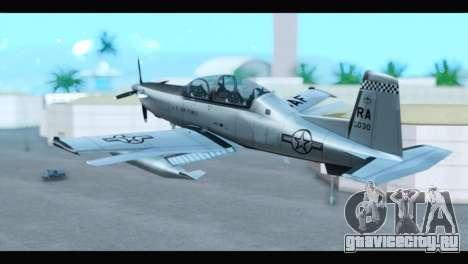 Beechcraft T-6 Texan II US Air Force 3 для GTA San Andreas вид слева