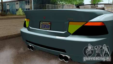 GTA 5 Ubermacht Zion XS Cabrio IVF для GTA San Andreas вид сзади