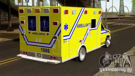 Ford F-450 2014 Quebec Ambulance для GTA San Andreas вид слева