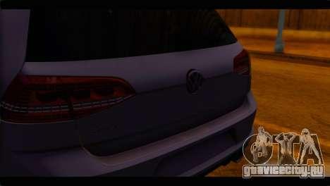 Volkswagen Golf 7 для GTA San Andreas вид сзади