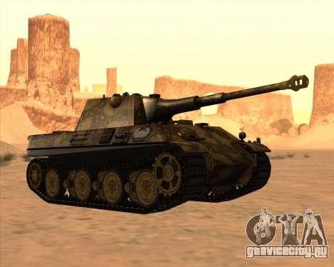 Pz.Kpfw. V Panther II Desert Camo для GTA San Andreas вид изнутри