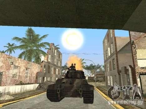 Panzerkampfwagen Tiger II для GTA San Andreas двигатель