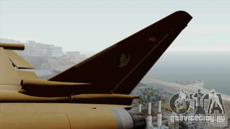 Eurofighter Typhoon Tropical Camo для GTA San Andreas вид сзади слева