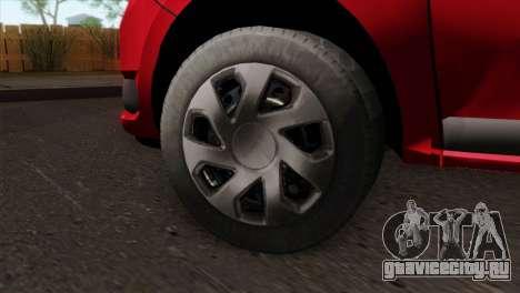 Dacia Logan MCV 2013 HQLM для GTA San Andreas вид сзади слева