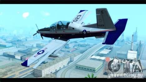 Beechcraft T-6 Texan II  United States Navy для GTA San Andreas вид слева