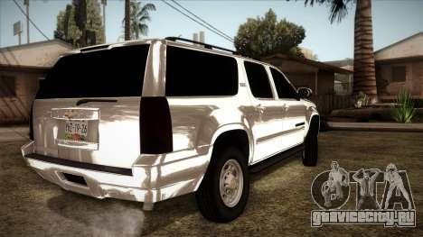 Chevrolet Suburban Plateada для GTA San Andreas вид слева