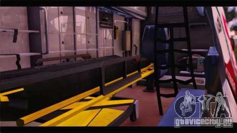 Ford E-350 Ambulance New Brunswick для GTA San Andreas вид сзади