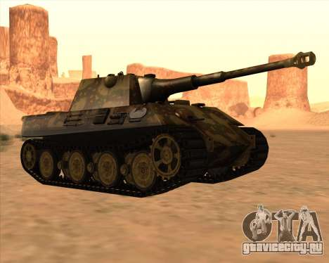 Pz.Kpfw. V Panther II Desert Camo для GTA San Andreas вид сзади