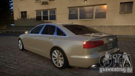 Audi A6 2012 v1.0 для GTA 4 вид сзади слева
