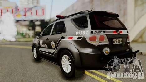 Toyota Hilux SW4 2014 ROTA для GTA San Andreas вид сзади