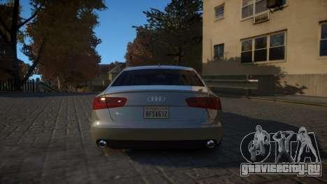 Audi A6 2012 v1.0 для GTA 4 вид справа