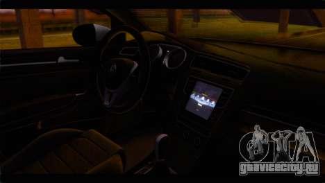Volkswagen Golf 7 для GTA San Andreas вид справа