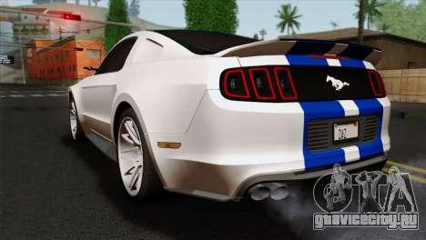 Ford Shelby 2014 для GTA San Andreas вид слева