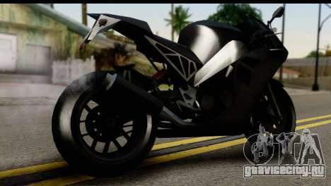 GTA 5 Carbon RS для GTA San Andreas вид слева