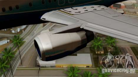 Boeing B737-800 Pilot Life Boeing Merge для GTA San Andreas вид справа