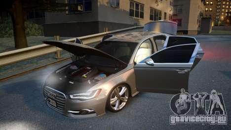 Audi S6 v1.0 2013 для GTA 4 вид сбоку
