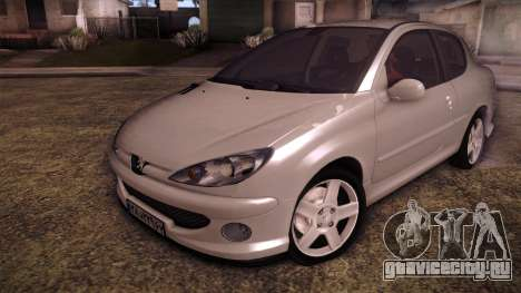 Peugeot 206 SD Coupe для GTA San Andreas