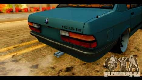 BMW 535is для GTA San Andreas вид сзади