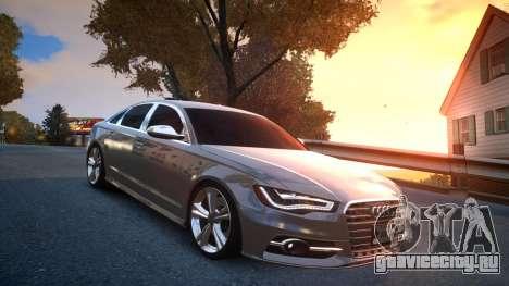 Audi S6 v1.0 2013 для GTA 4 вид сзади