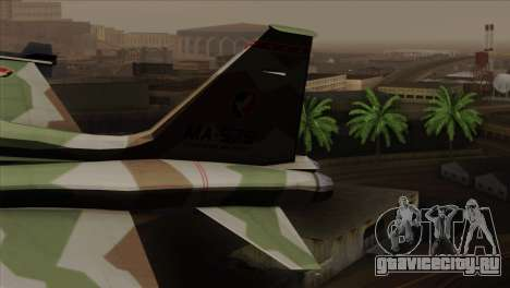 Northrop F-5 Estovakian Air Force для GTA San Andreas вид сзади слева