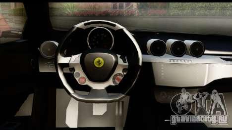 NFS Rivals Ferrari FF для GTA San Andreas вид изнутри