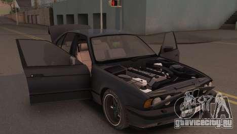 BMW 525i E34 2.0 для GTA San Andreas вид сзади