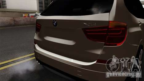BMW X3 F25 2012 для GTA San Andreas вид сзади