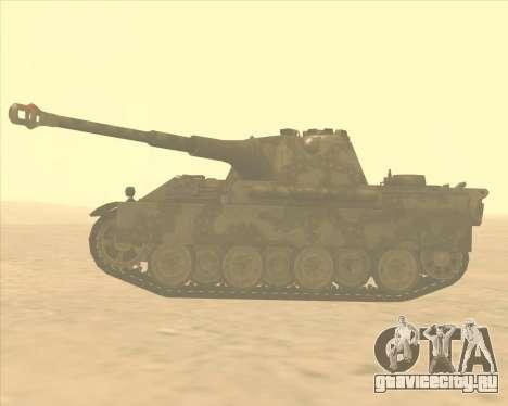 Pz.Kpfw. V Panther II Desert Camo для GTA San Andreas вид слева