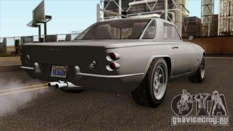 GTA 5 Lampadati Casco IVF для GTA San Andreas вид слева