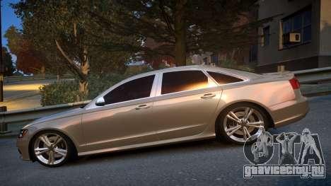Audi S6 v1.0 2013 для GTA 4 вид слева