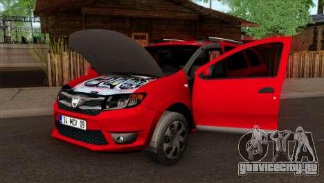 Dacia Logan MCV 2013 HQLM для GTA San Andreas вид справа