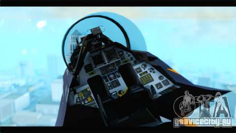 F-16D Fighting Falcon Dutch Demo Team J-015 для GTA San Andreas вид справа