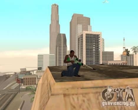 Green Pack Asiimov CS:GO для GTA San Andreas четвёртый скриншот
