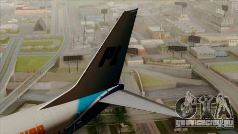 Boeing B737-800 Pilot Life Boeing Merge для GTA San Andreas вид сзади слева