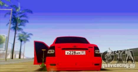 ВАЗ 2170 БПАN для GTA San Andreas вид сзади слева
